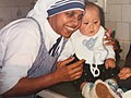 Christenelle Diroc with Mother Theresa's Nun in Orphanage in Romania.jpg