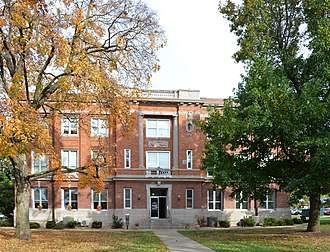 Ozark Courthouse Square Historic District (Ozark, Missouri) - Christian County Courthouse, October 2015