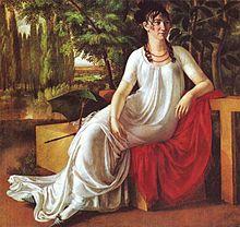 J. F. Cottas Ehefrau Wilhelmine (Porträt von Christian Gottlieb Schick, 1802) (Quelle: Wikimedia)