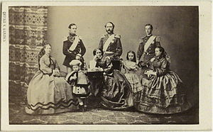Photography in Denmark - Georg E. Hansen: Christian IX and family (1862)