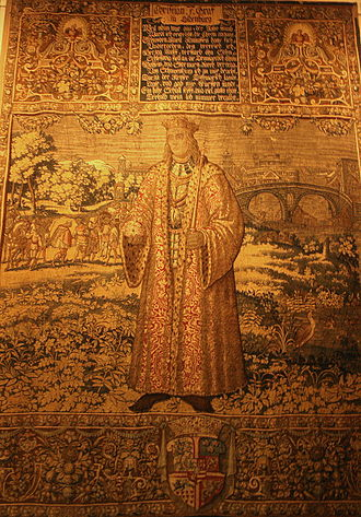 Christian I of Denmark - Tapestry with a portrait of Christian I