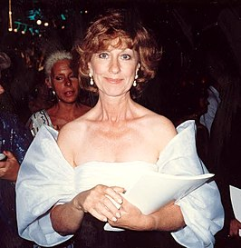 Christina Pickles tijdens de Emmy Awards (1987)