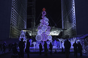 Grande Arche - Image: Christmas decoration at the Grand Arche