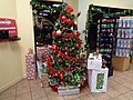 Christmas tree in gift shop 2015, Wild Adventures.JPG