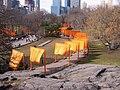 Christo's Gates & Glacier Scoured Rock in NYC - panoramio.jpg