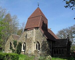 Church in the Wood, Hollington - Image: Church in the Wood, Hollington, Hastings (Io E Code 293741)
