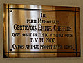 Church of St Mary Little Easton Essex England Gertrude Emma Cheffins brass plaque.jpg