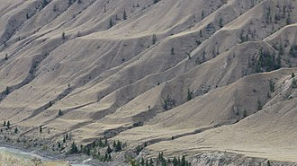 Churn Creek Protected Area - Grassland benches above the Fraser River in the park