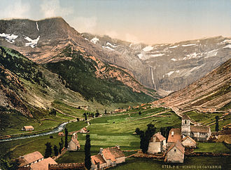 Cirque de Gavarnie - Photochrom of the Cirque de Gavarnie, circa 1900