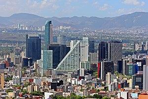 Economy of Mexico - Image: Ciudad.de.Mexico.Cit y.Distrito.Federal.D F.Paseo.Reforma.Skyl ine