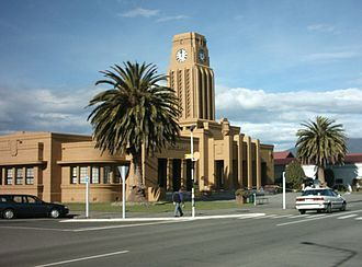 Westport, New Zealand - Art Deco influenced civic building in Westport.
