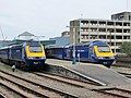 Class 43 hst first great western temple meads sisters .43169 &.43168 (7005523361).jpg
