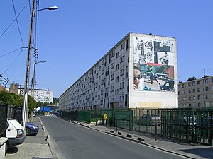 Suburb - Mid-rise social housing in Clichy-sous-Bois, a banlieue of Paris