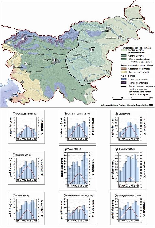 Climate types of Slovenia 1970-2000 and climographs for selected settlements. Climate types Slovenia 1970-2000.JPG