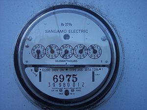Close up shot of an US electrical meter 000 0027