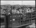Closing of the Jerome Relocation Center, Denson, Arkansas. A typical truck load of Jerome residents . . . - NARA - 539693.tif
