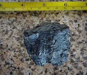 Guaduas Formation - Image: Coal Guaduas Páramo de Ocetá