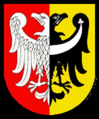 Coat of arms of Wrocław - Wrocław's arms under communist regime.