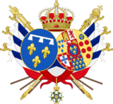 Coat of arms of Marie Amélie of the Two Sicilies as Queen of the French.png