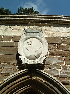Ailesbury Mausoleum - Image: Coat of arms on the Ailesbury mausoleum at St Mary's Church in Maulden, Bedfordshire