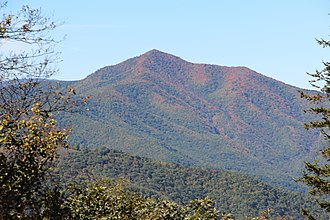 Cold Mountain (North Carolina) - Cold Mountain as seen from the Blue Ridge Parkway
