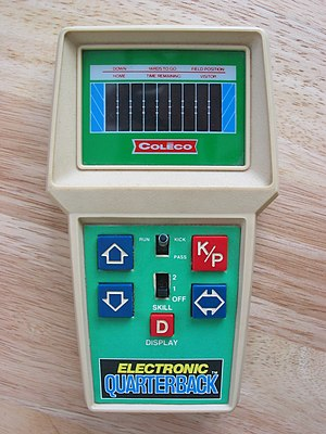 "Handheld electronic game - Coleco ""Electronic Quarterback"" (1978)"