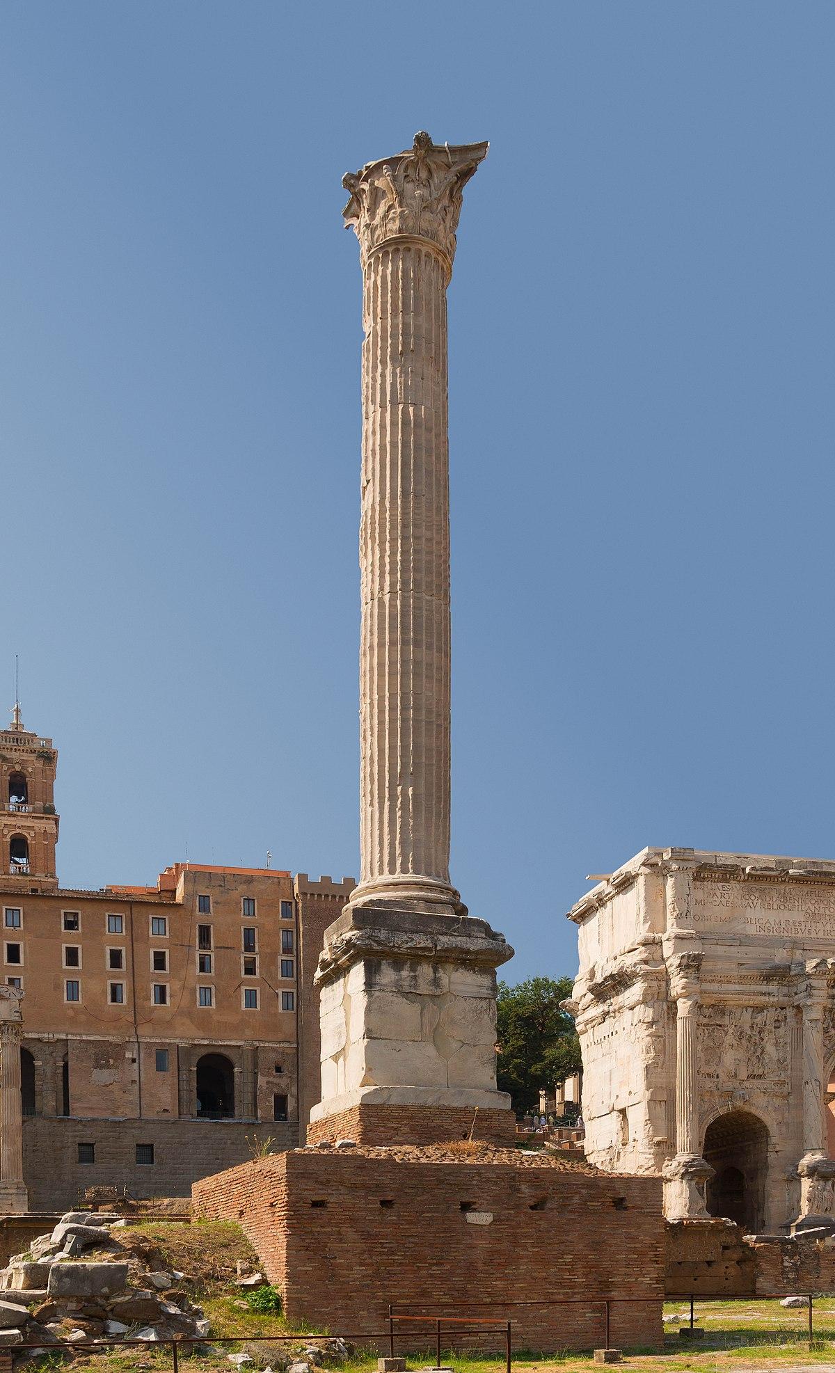 colonne de phocas � wikip233dia