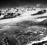 Columbia Glacier, Upper Valley Glacier and Calving Distributary, August 12, 1961 (GLACIERS 1057).jpg