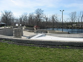 National Register of Historic Places listings in Putnam County, Ohio - Image: Columbus Grove Pool from east southeast