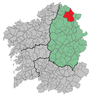 Foz - Location of Foz in Spain