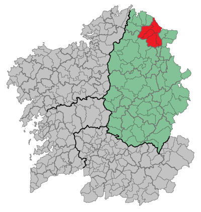 Location of Foz in Spain