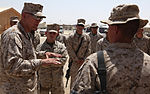 Commandant, Sergeant Major of the Marine Corps Visit 1st MLG Marines in Afghanistan DVIDS311554.jpg