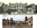Comparison of Holland House, Kensington, in 1896 and 2014.png