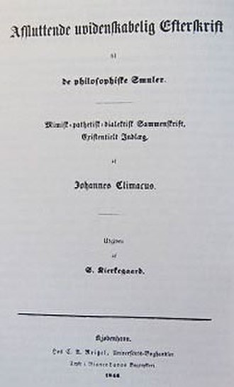Concluding Unscientific Postscript to Philosophical Fragments - Titlepage, first edition