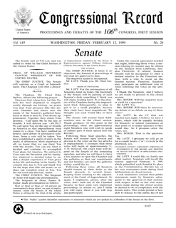 <i>Congressional Record</i> Official record of the proceedings and debates of the United States Congress