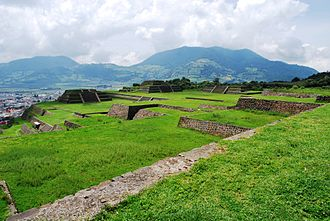 Teotenango - Overlooking part of the site with Matlatzinco Valley in the background