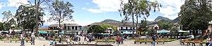 Jardín - Image: Conjunto de la Plaza Principal del Municipio el Jardín. Colombia