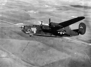 455th Air Expeditionary Wing - Consolidated B-24H-10-CF Liberator 42-64500, 743d Bomb Squadron. Lost on 11 Jun 1944