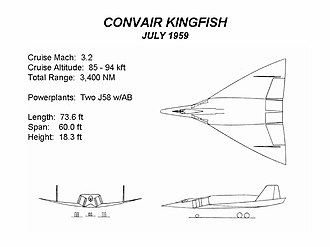 Convair Kingfish - Kingfish design (July 1959)