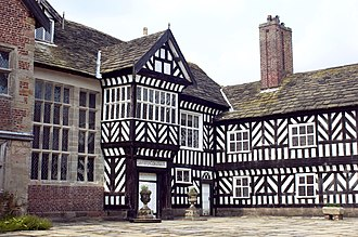 Civil parishes in Cheshire - Image: Courtyard from the south west
