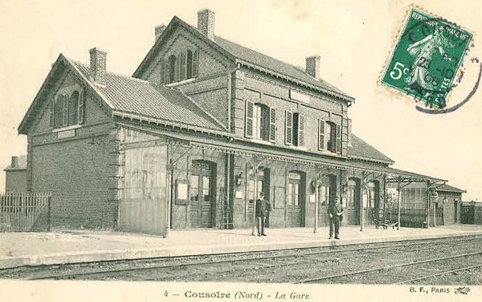 Gare de Cousolre, Nord, Nord-Pas-de-Calais, France.