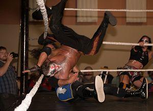 Crazzy Steve - Crazzy Steve executing a cannonball senton onto Tornado