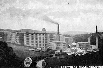 Neilston - Crofthead Mill, a local landmark, was one of seven large cotton mills on the banks of the River Levern.