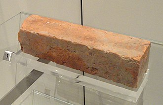 Harappan architecture - Cut brick from Chanhudaro (Pakistan); circa 2500-1900 BC; Royal Ontario Museum (Toronto, Canada)
