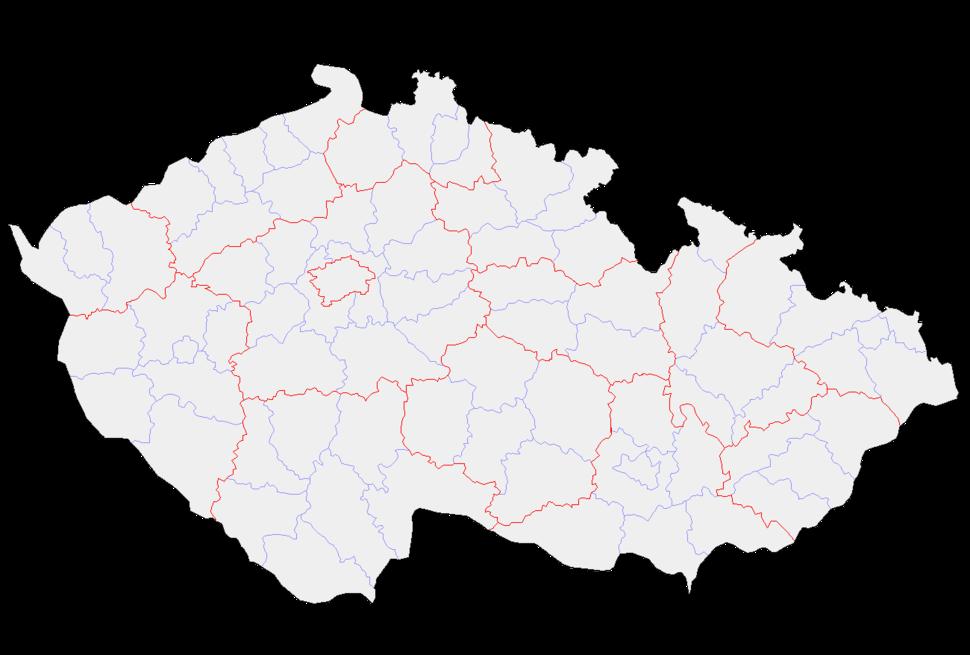 Czech Republic districts