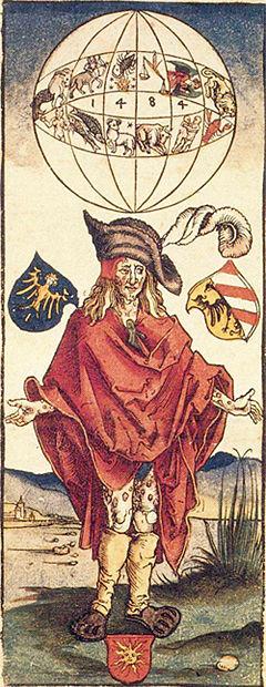 1498年のメディカル・イラスト  梅毒の原因には占星術が関係すると考えられた。