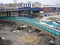 DLR construction at West India Dock April 2009.jpg