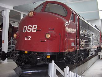 Danish Railway Museum - Preserved NOHAB locomotive