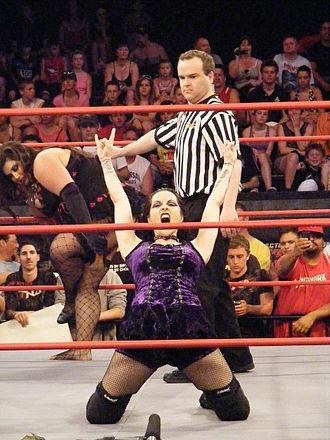 Daffney - Daffney posing in the ring in 2010