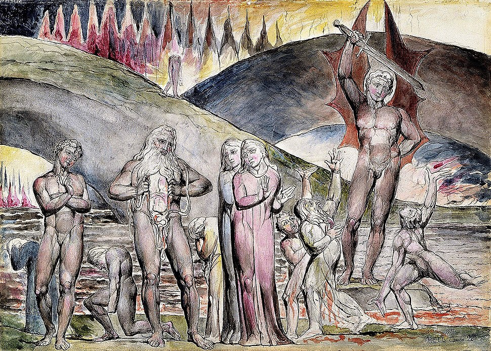 Dante and Virgil Meet Muhammad and His Son-in-law, Ali in Hell